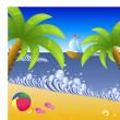 Vacation at the beach — Stock Vector