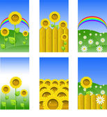 Set of elements for design, backgrounds — Stock Vector