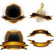 Stockvector : Set of vector emblems and banners