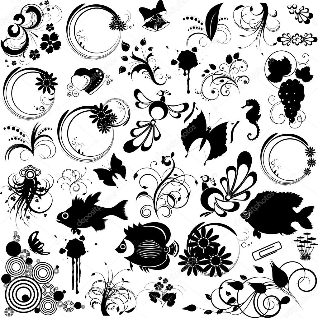 black tattoo vector