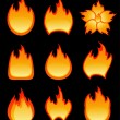 Set of vector fire — Stock Vector #2012149