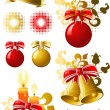 Christmas design elements — Stockvectorbeeld