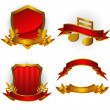 Royalty-Free Stock Vector Image: Set of vector emblems and banners
