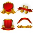 Vettoriale Stock : Set of vector emblems and banners