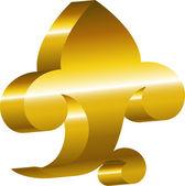 Element of design - a golden cartouche. — Stock Vector