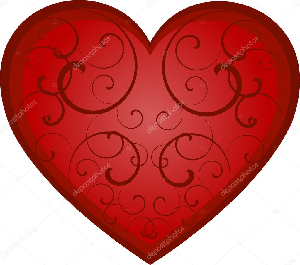 Vector heart over white. EPS 8, AI, JPEG  Stockvektor #2046534
