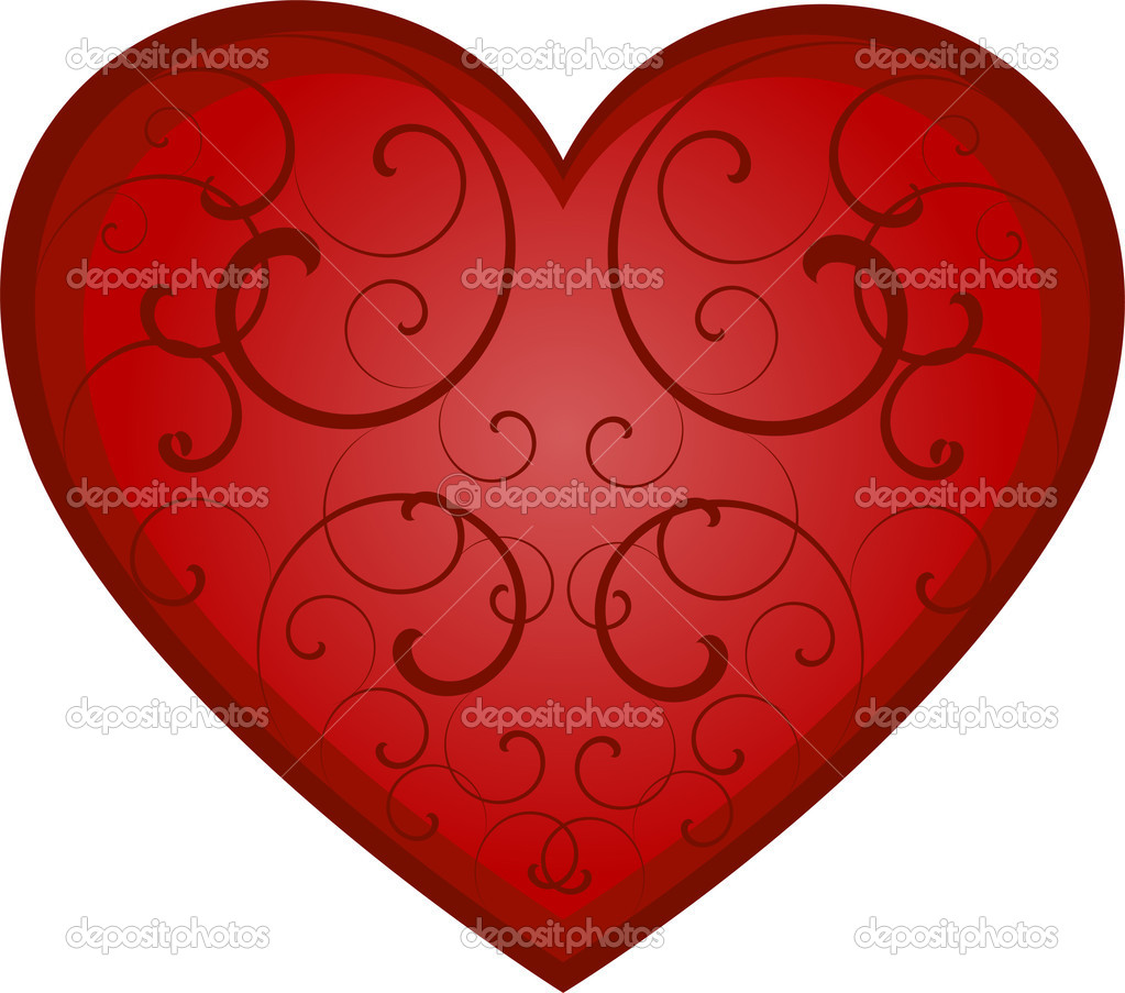 Vector heart over white. EPS 8, AI, JPEG — Stock vektor #2046534