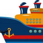 Passenger cruise ship — Stock Vector