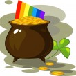 Illustration on the day of St. Patrick — Stock Vector