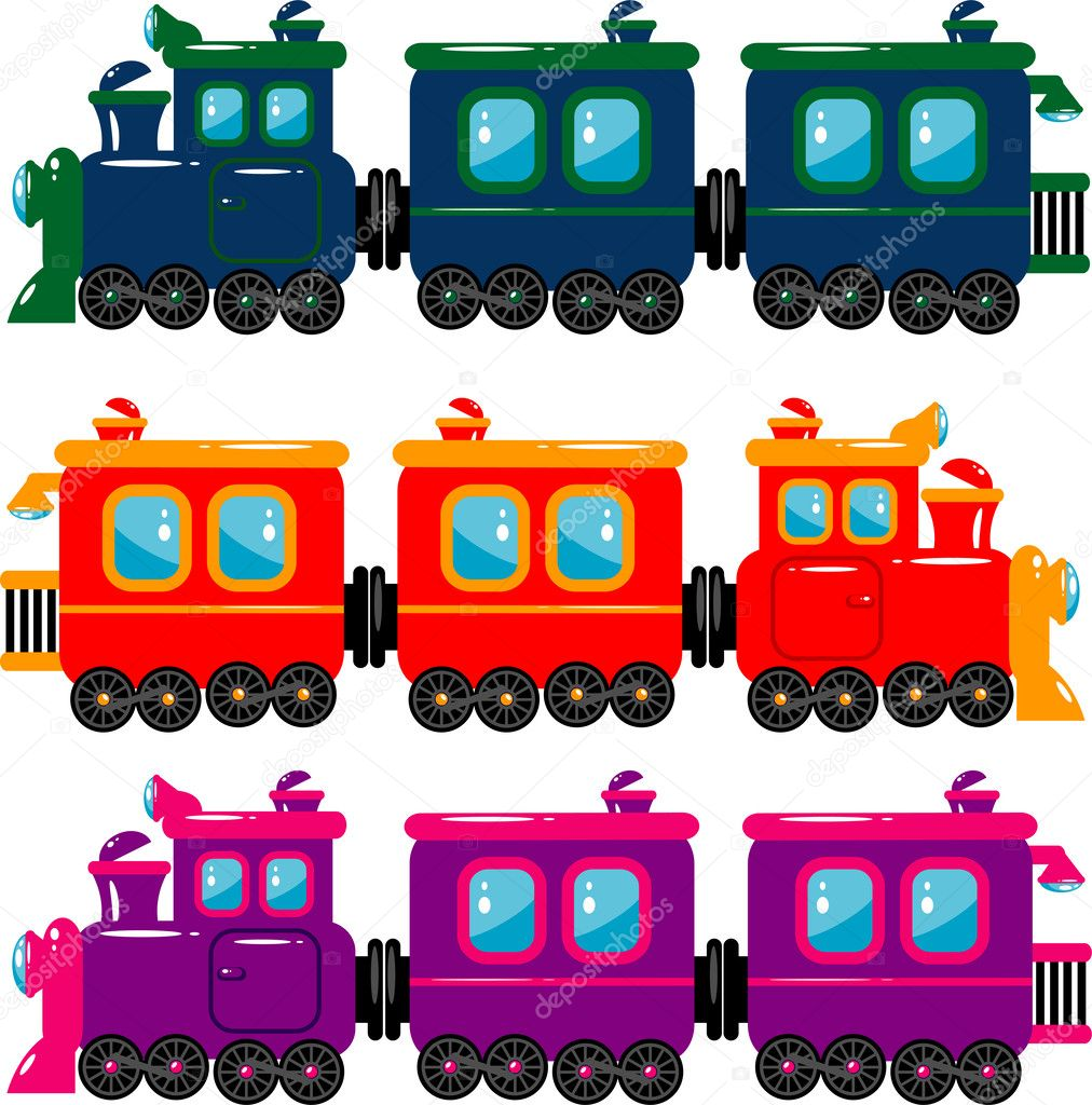 Vector trains over white. EPS 8, AI, JPEG  Stock Vector #2200241