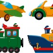 Stock Vector: Set of vehicles