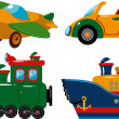 Set of vehicles — Imagen vectorial