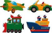Conjunto de vehículos — Vector de stock
