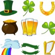 St. Patricks Day set — Stock Vector