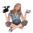 Girl with camcoders — Stock Photo #1857760
