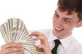 Man with money — Stock Photo