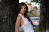 Girl in white — Stock Photo