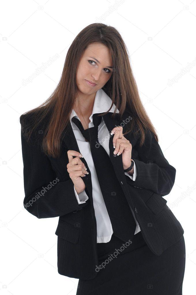 Мультяшная девушка в костюме