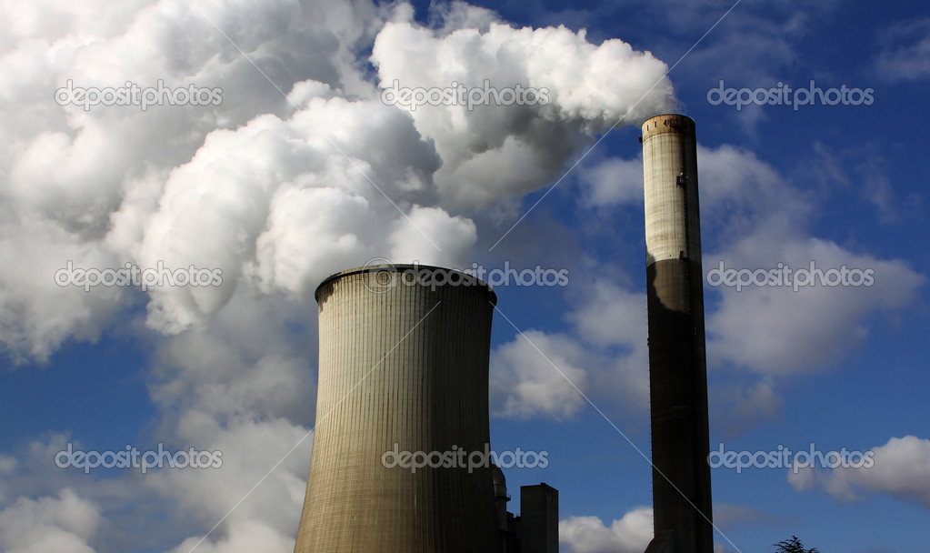 Braunkohleabbau,Kraftwerke,brown coal power station — Stock Photo #1774572