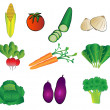 Vegetables illustrations - Stock Vector