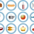 Food vector icons - Stock Vector