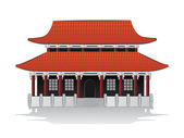 Chinese house illustration — Stock Vector