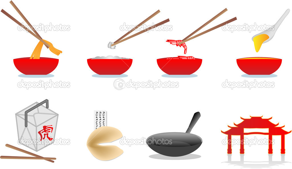 Chinese food illustration  Image vectorielle #1806875