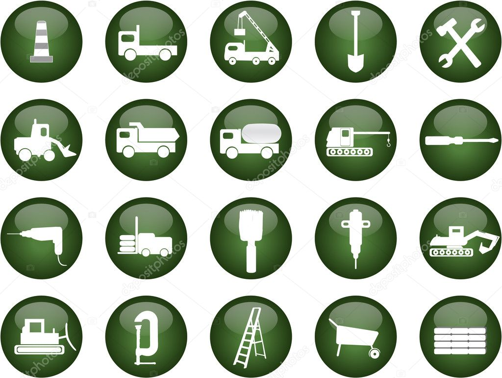 Construction icons — Stock Vector #1807021