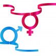 Stock Vector: Gender symbols vector illustration