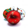 3 christmas tree ornaments — Stock Photo