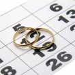 Royalty-Free Stock Photo: Two wedding ring on a calendar