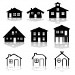 Stock Vector: Simple house illustrations