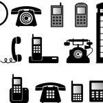 Phone illustrations — Stock Vector