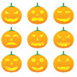 Halloween pumpkin illustrations - Stock Vector