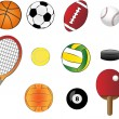 Stock Vector: Sports equipment