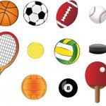 Sports equipment — Stock Vector