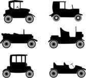 Old timer cars illustration — Stock Vector