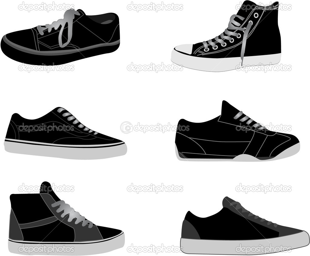 Sneakers illustrations available in vector  format — Grafika wektorowa #1827136
