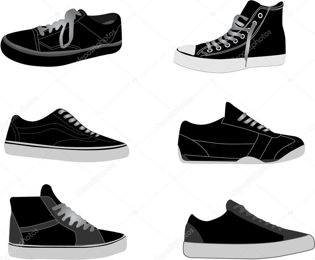 Sneakers illustrations available in vector  format — Image vectorielle #1827136