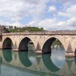 Old otoman bridge over river Drina — Stock Photo
