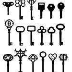 Keys illustrations — Stock Vector