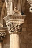 Artistic pillar from Dubrovnik, Croatia — Stock Photo