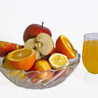 Stock Photo: Mixed Fruits and Orange Juice