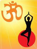 Yoga Symbol Aum - Yoga Mantram - vector — Stock Vector