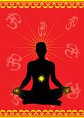 Meditation vector — Stock Vector