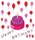 Happy birthday conception — Stock Vector