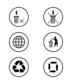 Eco ikoner — 图库矢量图片