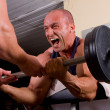 Royalty-Free Stock Photo: Bodybuilder training