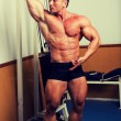 Bodybuilder posing — Stock Photo #1846159