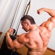 bodybuilder posing — Stock Photo